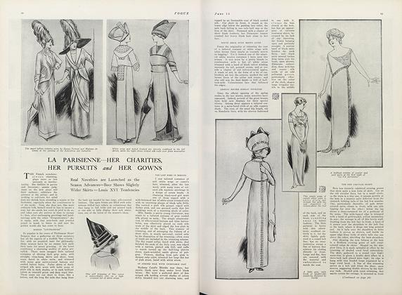 Article Preview: La Parisienne—Her Charities, Her Pursuits and Her Gowns, June 15 1911 | Vogue
