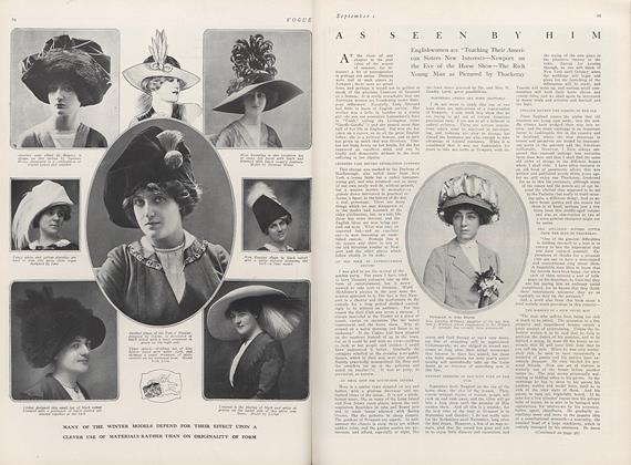 Article Preview: As Seen by Him, September 1 1911 | Vogue