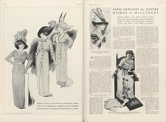 Article Preview: Paris Exploits the Winter Modes in Millinery, September 1 1911 | Vogue