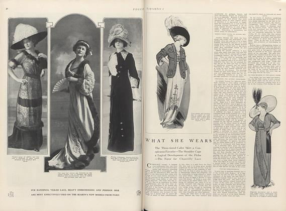 Article Preview: What She Wears, September 1 1911 | Vogue