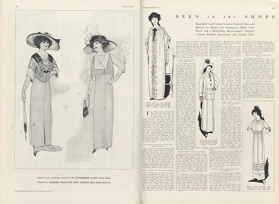 Article Preview: Seen in the Shops, September 1 1911 | Vogue