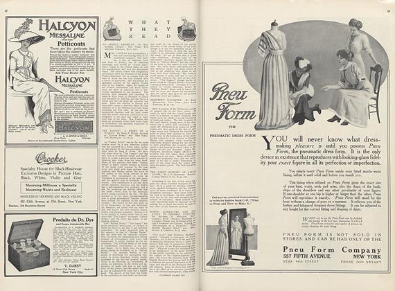 Article Preview: What They Read, September 1 1911 | Vogue
