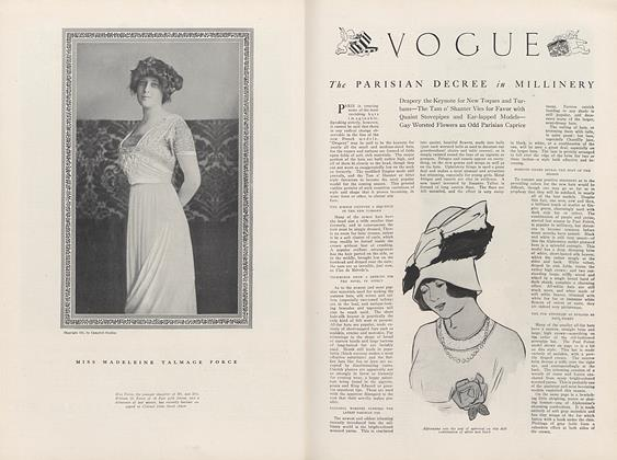 Article Preview: The Parisian Decree in Millinery, September 1 1911 | Vogue