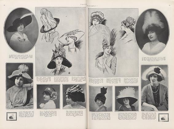 Thirteen Pages of Photographs and Drawings of the New Autumn Hats