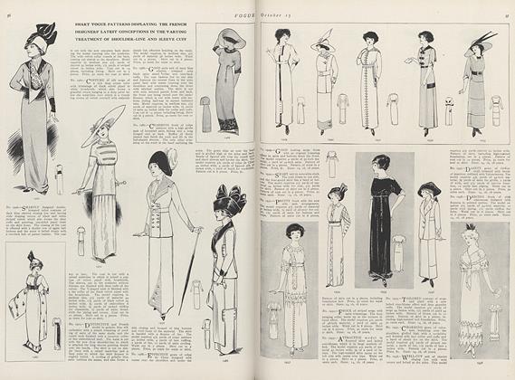 The Newest Autumn Designs in Vogue Patterns