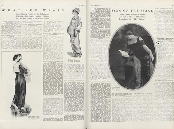 Article Preview: Seen on the Stage, December 15 1911 | Vogue