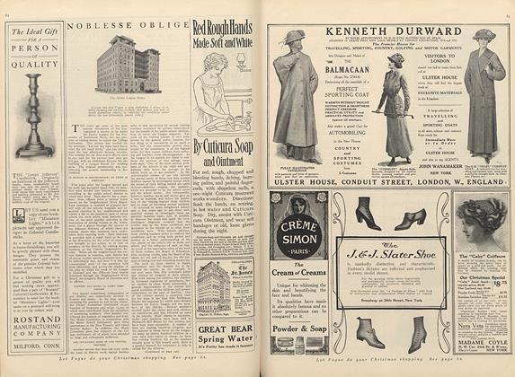 Article Preview: Noblesse Oblige, December 15 1911 | Vogue