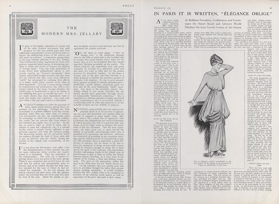 "Article Preview: In Paris It is Written, ""Elegance Oblige"", January 15 1912 