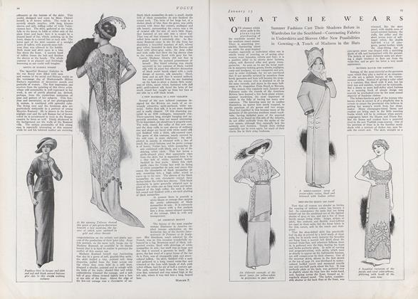 Article Preview: What She Wears, January 15 1912 | Vogue