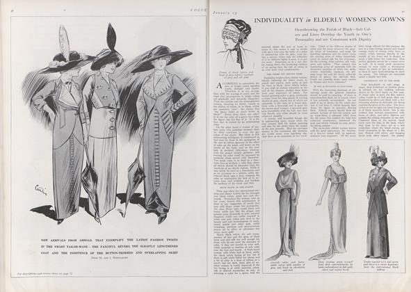 Article Preview: Individuality in Elderly Women's Gowns, January 15 1912 | Vogue