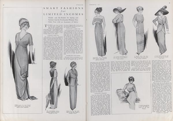 Article Preview: Smart Fashions for Limited Incomes, January 15 1912 | Vogue