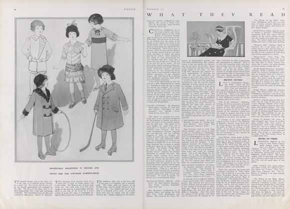 Article Preview: What They Read, January 15 1912 | Vogue