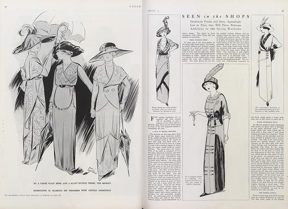 Seen in the Shops: Good-style Frocks and Suits...