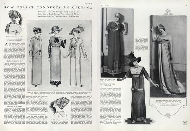 How Poiret Conducts an Opening