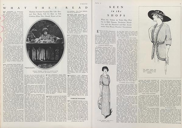 Article Preview: What They Read, July 1 1912 | Vogue