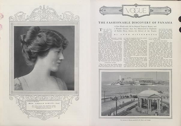 Article Preview: The Fashionable Discovery of Panama, July 1 1912 | Vogue