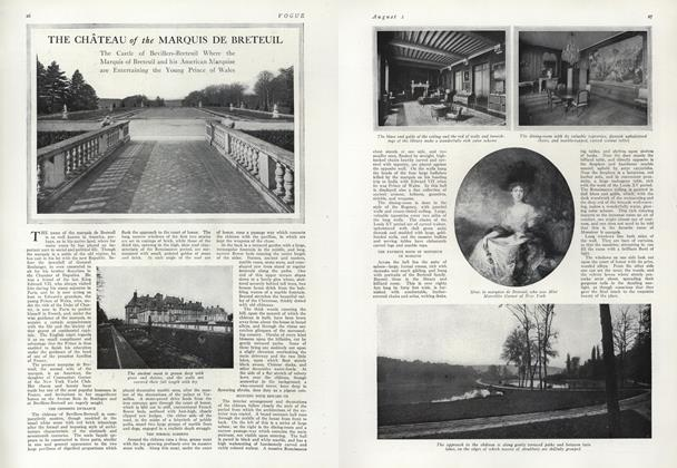 Article Preview: The Chateau of the Marquis De Breteuil, August 1 1912 | Vogue