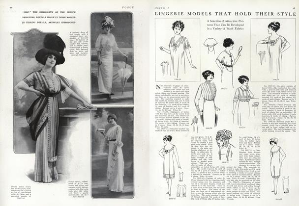 Article Preview: Lingerie Models That Hold Their Style, August 1 1912 | Vogue