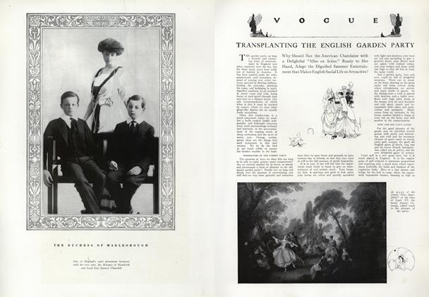 Article Preview: Transplanting the English Garden Party, August 1 1912 | Vogue