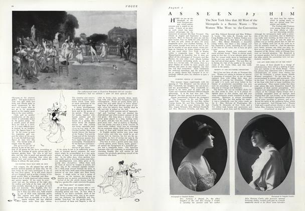 Article Preview: As Seen by Him, August 1 1912 | Vogue
