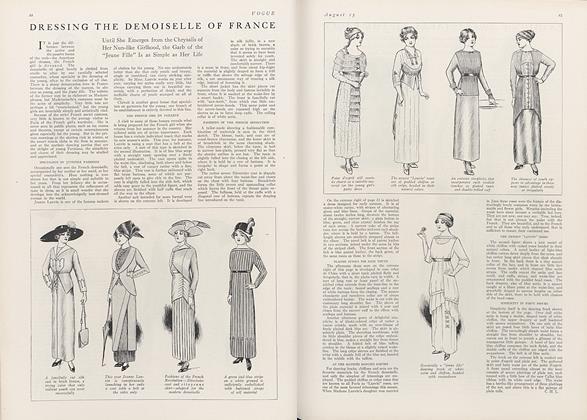 Dressing the Demoiselle of France