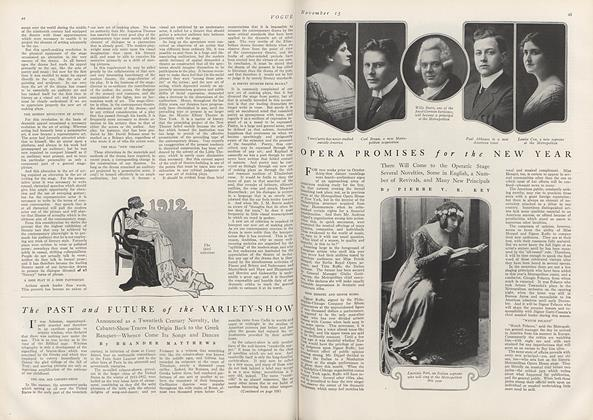 Article Preview: Opera Promises for the New Year, November 15 1912 | Vogue
