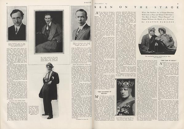 Article Preview: Seen on the Stage, November 15 1912 | Vogue