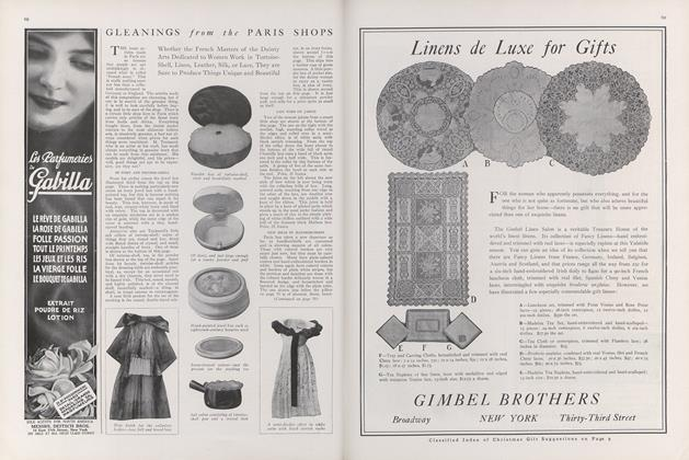 Gleanings from the Paris Shops