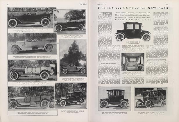 Article Preview: The Ins and Outs of the New Cars, January 1 1913 | Vogue