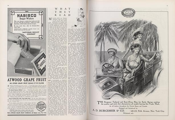 Article Preview: What They Read, January 1 1913 | Vogue