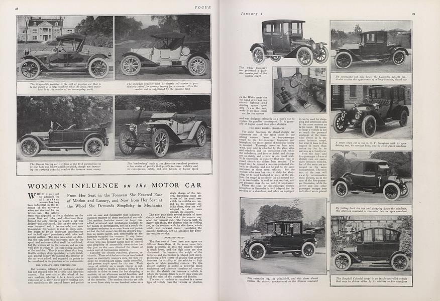 Woman's Influence on the Motor Car