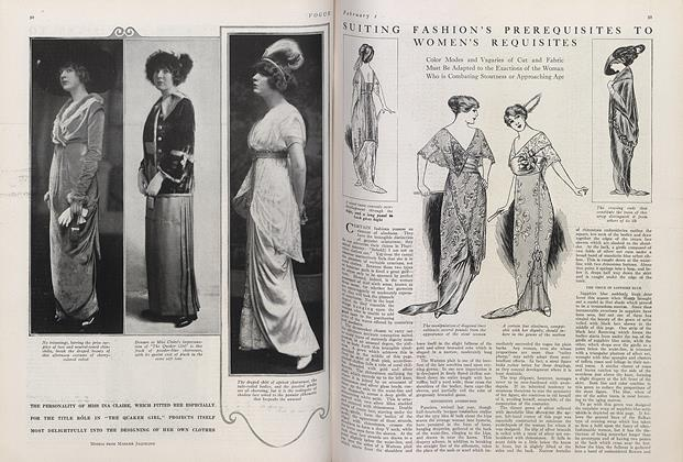 Suiting Fashion's Prerequisites to Women's Requisites