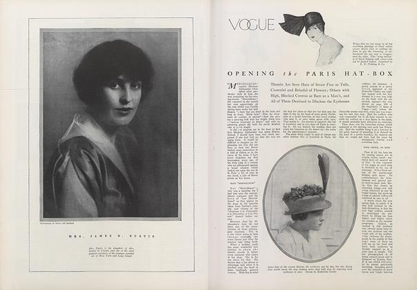 Article Preview: Opening the Paris Hat-Box, March 15 1914 | Vogue
