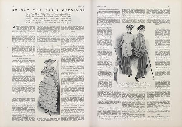 Article Preview: So Say the Paris Openings, March 15 1914 | Vogue