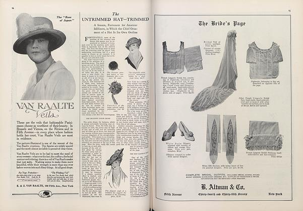 Article Preview: The Untrimmed Hat — Trimmed, March 15 1914 | Vogue