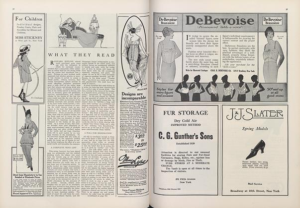 Article Preview: What They Read, March 15 1914 | Vogue