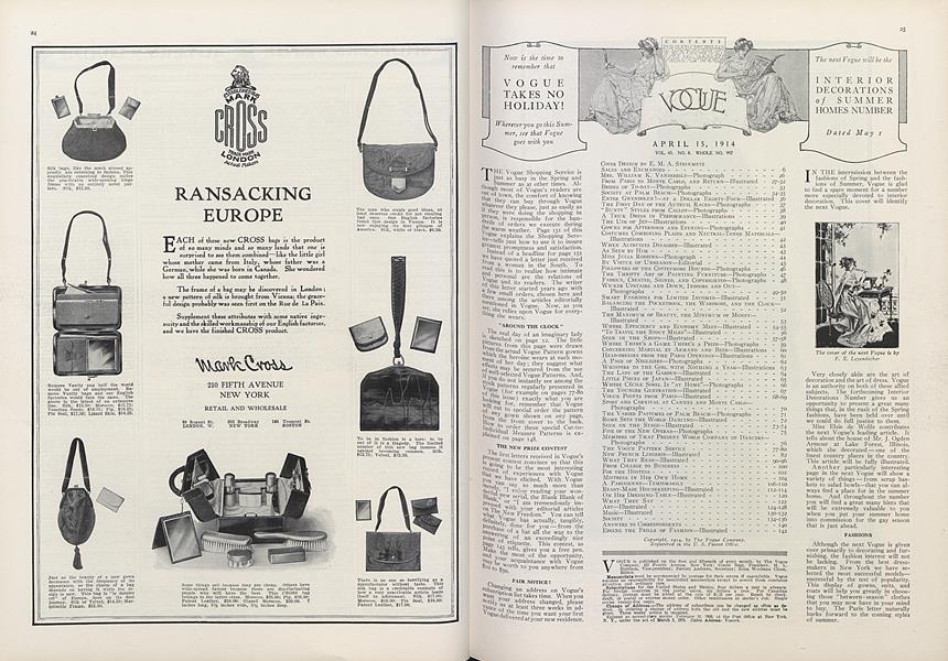 Contents April 15, 1914
