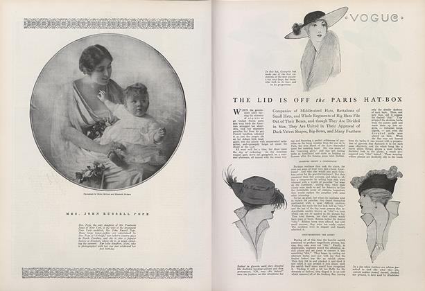 Article Preview: The Lid is off the Paris Hat-box, September 1 1914 | Vogue