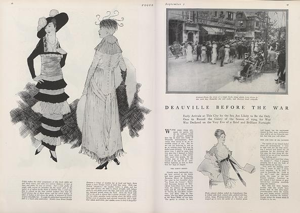 Article Preview: Deauville Before the War, September 1 1914 | Vogue