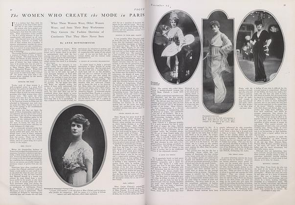 Article Preview: The Women Who Create the Mode in Paris, November 15 1914 | Vogue