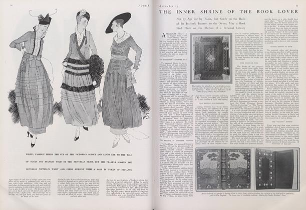 Article Preview: The Inner Shrine of the Book Lover, November 15 1914 | Vogue