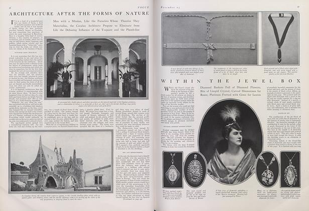 Article Preview: Architecture After the Forms of Nature, November 15 1914 | Vogue