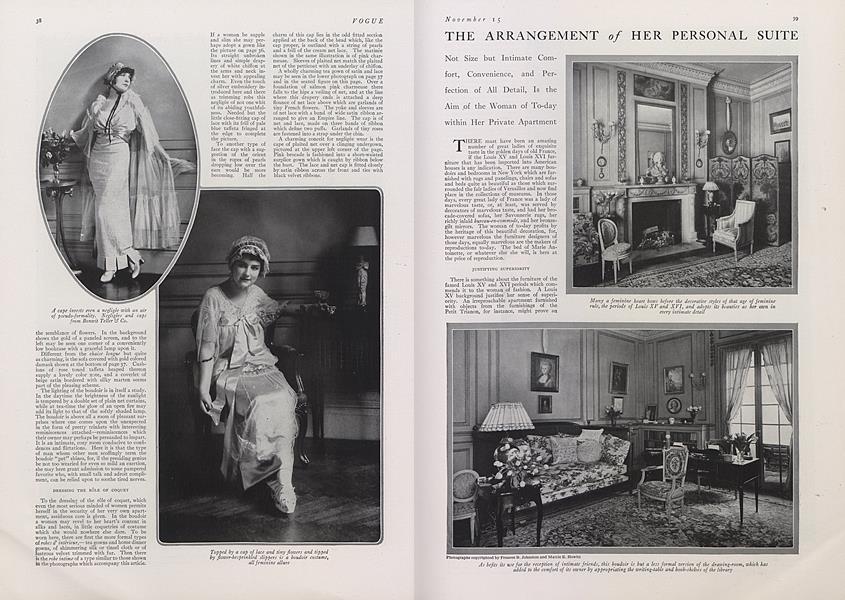 The Arrangement of Her Personal Suite