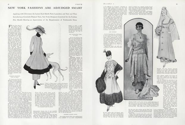 Article Preview: New York Fashions are Adjudged Smart, December 1 1914 | Vogue