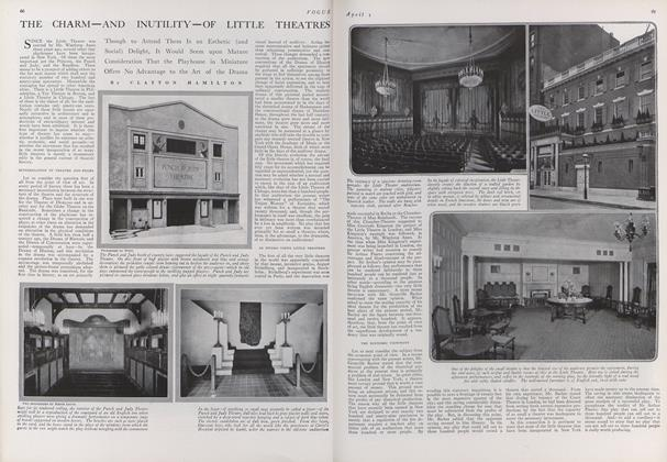 The Charm--and Inutility--of Little Theatres
