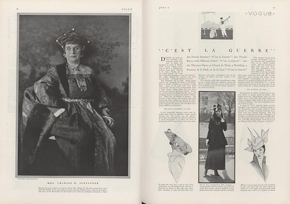 "Article Preview: ""C'est La Guerre"", June 1 1915 