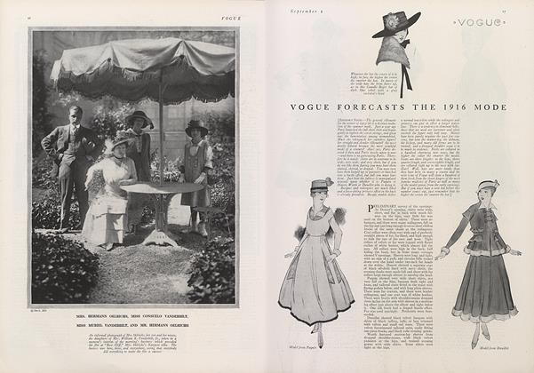 Article Preview: Vogue Forecasts the 1916 Mode, September 1 1915 | Vogue