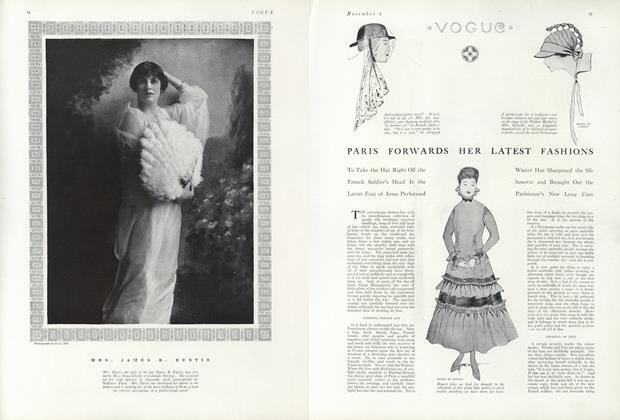 Article Preview: Paris Forwards Her Latest Fashions, November 1 1915 | Vogue