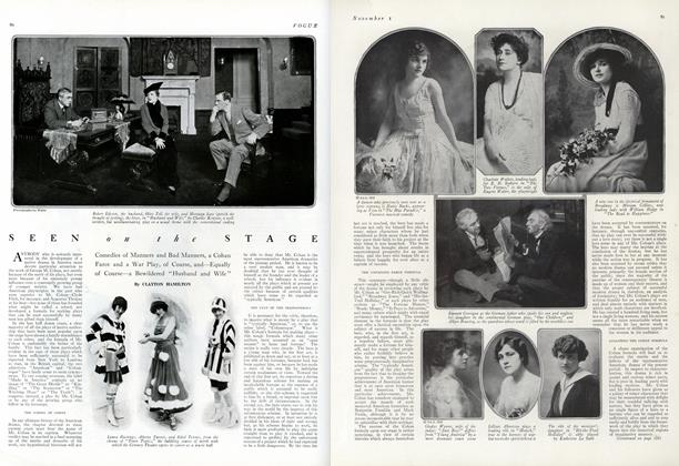 Article Preview: Seen on the Stage: Comedies of Manners and Bad Manners..., November 1 1915 | Vogue