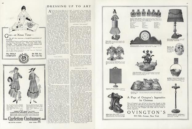 Article Preview: Dressing Up to Art, November 1 1915 | Vogue